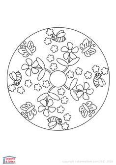 S ance printemps coloriage imprimer mandala du - Coloriage mandala printemps ...