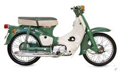 Honda 1970 Cub_50. The Honda Super Cub, in its various versions C100, C50, C70, C90, C100EX, C70 Passport and more, is a Honda underbone motorcycle with a four stroke single cylinder engine ranging in displacement from 49 to 109 cc (3.0 to 6.7 cu in). Having been in continuous manufacture since 1958, with production surpassing 60 million in 2008, the Super Cub is the most produced motor vehicle in history.