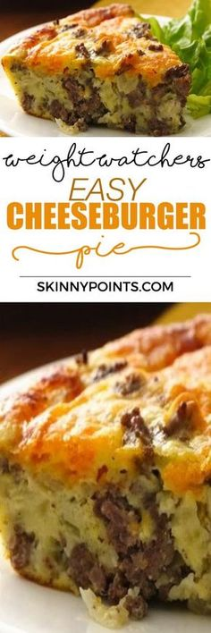 Easy And Simple Cheeseburger Pie come with 10 weight watchers SmartPoints