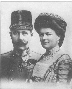 ferdinand franz arquiduque e Sophie duquesa