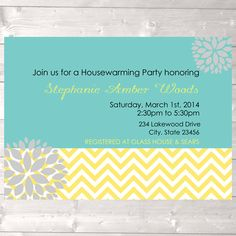 Modern housewarming party invitation new home by designandplay, $15.00