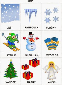 Pro Štípu: Rocni obdobi - obrazky Christmas Activities For Toddlers, Winter Crafts For Kids, Preschool Activities, Weather For Kids, Learning English For Kids, Toddler Christmas, Home Schooling, Winter Time, Holidays And Events
