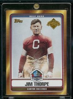 2006 Topps Jim Thorpe Canton Bulldogs Hall of Fame Limited Edition Football Card - Class of 1963 - Mint Condition - Shipped In Protective ScrewDown Display Case! by Topps. $3.88. 2006 Topps Jim Thorpe Canton Bulldogs Hall of Fame Limited EditionFootball Card - Class of 1963 - Mint Condition - Shipped In Protective ScrewDown Display Case!