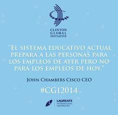 El mundo avanza, la innovación es inminente. #CGI2014 #Laureate #Frases