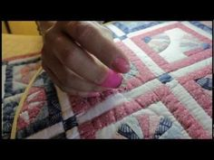 hand quilting for beginners, the rocking motion & knot - YouTube