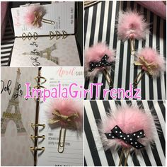 new style paper clip planner clip glam powder puff fancy clip cup target girl kikki