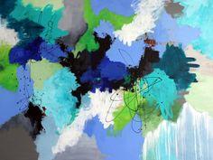 Stort malerier 200 x 150 cm. Kunstner Mette Vester