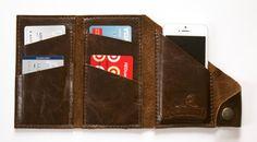 Leder-Geldbörse Daten Dave in Schokolade Espresso von RobbieMoto