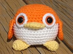 Adorable Orange Amigurumi Penguin