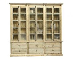 The Cupboard Doors have clear glass in them. Build in 2 Parts, base and top. Fantastic for a Kitchen or Pantry for all your crockery etc. Modern Farmhouse Style, Modern Country, Country Furniture, Home Furniture, Furniture Ideas, Kitchen Pantry Storage, Cupboard Doors, China Cabinet, Beautiful Homes