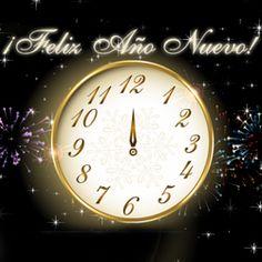 Que el año nuevo te traiga mucha alegría y que se cumplan todos tus deseos. ¡Feliz Año Nuevo!  http://dostarjetas.com/tarjetas-de-feliz-ano-nuevo/reloj-del-ano-nuevo-697.html                                                                                                                                                                                 Más