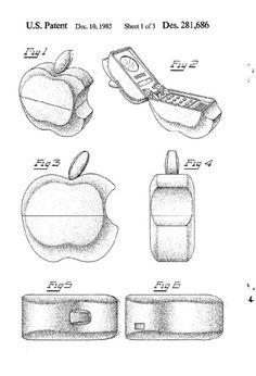 Original 1985 Apple iPhone Design Patent.