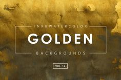 Golden Ink Backgrounds 12 by M-e-f