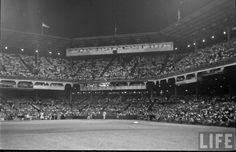 Ebbets Field - The view from left field Baseball Park, Dodgers Baseball, Tear Down, Fields, Brooklyn, Basketball Court, The Past, America, Parks