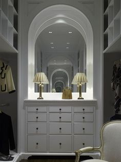 Gorgeous Closet & Dressing Area by Bill Litchfield Designs