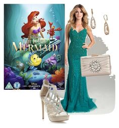 """Disney Princess Inspired Prom/Matric Dance Dress: Ariel"" by salomemonametsi ❤ liked on Polyvore featuring Lara, Disney, INC International Concepts, Jenny Packham, Prom, disney, ariel and inspiration"