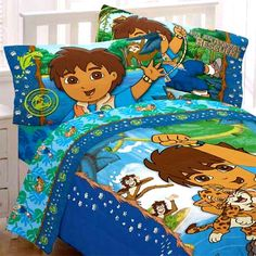Full Animals Go Diego Comforter - Boys Jaguar Double Bedding - Full Bed