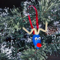 DIY Rudolph Light bulb Ornaments  -would make a cute kid's craft