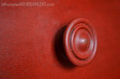 Painting with Annie Sloan Chalk Paint Emperors Silk, this is such a bright and beautiful shade of red that when combined with dark wax looks deep and distressed.