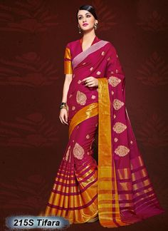 Ambitious Pink Coloured Cotton Embroidered Saree