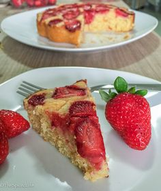 Citrus Olive Oil Cake Topped with Strawberries
