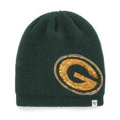 Green Bay Packers Dark Green Sparkle Women s Knit Beanie. 100% Acrylic. One  size 30f625de1