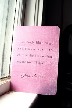 Jane Austen Journal - Mansfield Park Quote. $5.50, via Etsy.