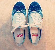 Monsieur Madone collab' shoes SS14 #twinsforpeace #collab #fashion #mode #ocean #print #surf