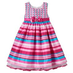Girls 4-6x Nannette Polka-Dot & Stripes Dress
