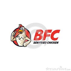 An Unique Happy Chicken Character Logo great for any company purpose!