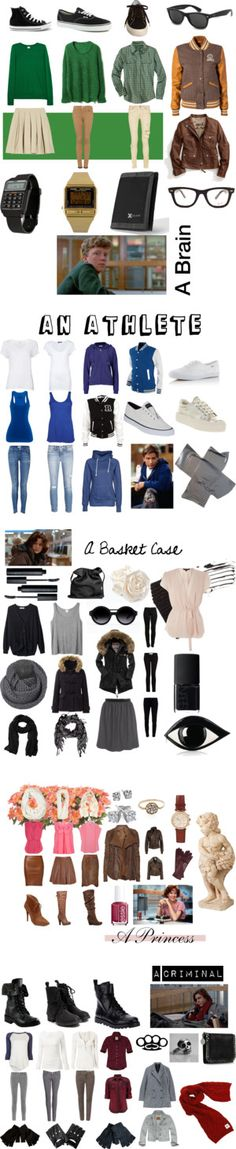"""""""The Breakfast Club by jwanya ❤ liked on Polyvo Looks Halloween, Halloween Costumes, Capsule Wardrobe, The Breakfast Club, Breakfast Club Costume, Character Inspired Outfits, Fandom Outfits, Fandom Fashion, Casual Cosplay"""