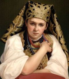 Fedoskino School, Portrait of a Woman