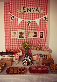Atias Room: a farm party theme.