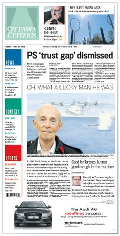 Tuesday, May 20, 2014 Relaunch of the Ottawa Citizen