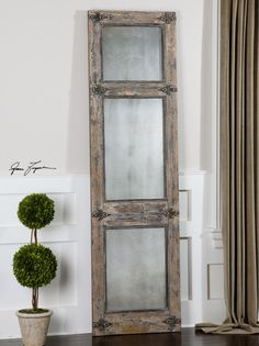 Use two of these as doors for your pantry.  Or doors into your master bath