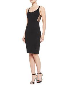 Ornella Lace-Panel Tank Sheath Dress by Noam Hanoch at Bergdorf Goodman.