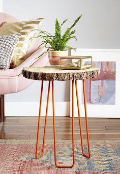 The Pinterest 100: DIY.  DIY tree slab table.