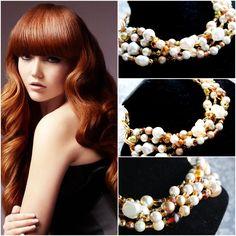Natasha Pearl Necklace, Handmade Jewelry, Pearls, Fashion, String Of Pearls, Moda, Beaded Necklace, Fashion Styles, Beads