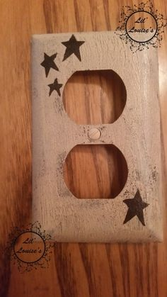 Primitive STARS Outlet Switch Plate Cover black by LilLouises