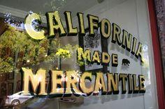 23 karat gold window sign in Hayes Valley, SF