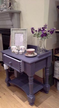 Painted in Annie Sloan chalk paint (Old Violet)