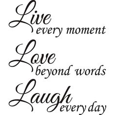 Live Laugh Love Out Loud Vinyl Wall Art Decals Words Paint Ideas