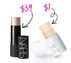 The NARS Multiple has become one of those items that pretty much every beauty addict must have. These pigmented sticks can be used as shadow, blush, bronzer, highlighter, or even a lipstick. ELF's All Over Color Sticks have a slightly different finish and texture, but are a great deal. While Spotlight and Copacabana look pretty different, once applied, they are almost identical.  Try: Essential All Over Color Stick (in Spotlight) $1 NARS The Multiple (in Copacabana) $39