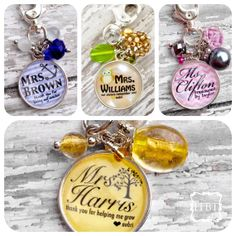 Teacher Appreciation Gift - Teacher Personalized Badge - Teacher Thank You Gift - Lanyard Charm on Etsy, $20.00