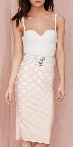 Shakuhachi Spotlight Pencil Skirt
