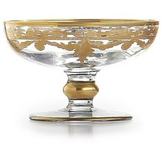 Arteltalica Baroque Gold Small Compote ($81) ❤ liked on Polyvore