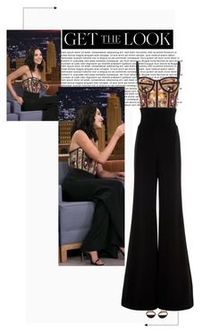 """""""Gal Gadot on 'The Tonight Show Starring Jimmy Fallon'."""" by poison-iivy ❤ liked on Polyvore featuring Cushnie Et Ochs, Nicholas Kirkwood, GetTheLook, CelebrityStyle, galgadot and cushnieetochs"""