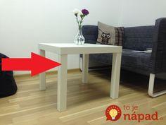 Pozrite sa, na čo všetko sa dá premeniť tento lacný stolík!