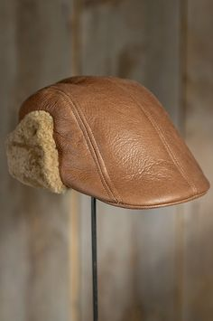Shearling Sheepskin Ivy Cap with Ear Flaps by Overland Sheepskin Co. (style 73275)