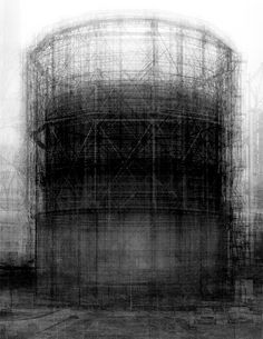 Idris Khan Homage to Bernd Becher Every… Bernd and Hilla Becher Prison Type Gasholder. Idris Khan's ghostly composite Photograph: Victoria Miro Gallery, London Photomontage, Bernd Und Hilla Becher, Idris Khan, Photography Words, Portrait Photography, Fashion Photography, Wedding Photography, Multiple Exposure, Wow Art
